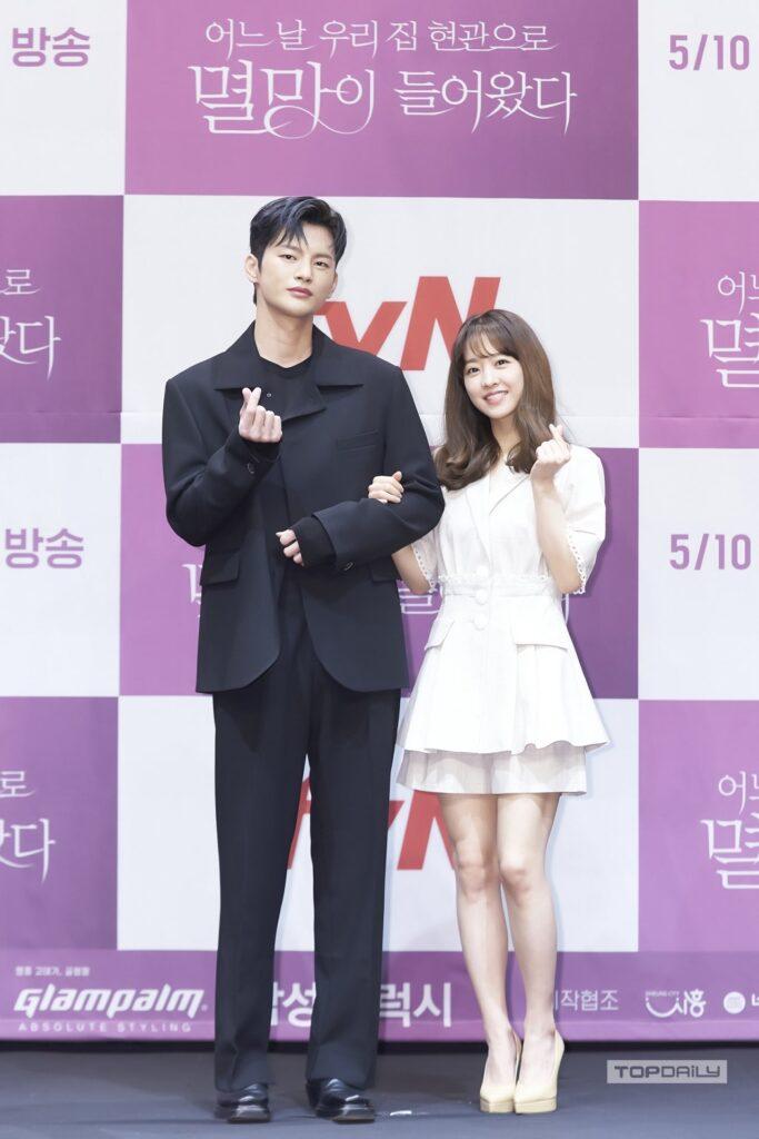 韓国ドラマ「滅亡」製作発表の様子